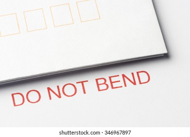 Do not bend with envelopes