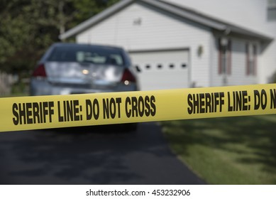 Do Not Cross tape at a crime scene