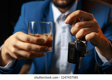 Do not drink and drive Cropped image of drunk man talking car
