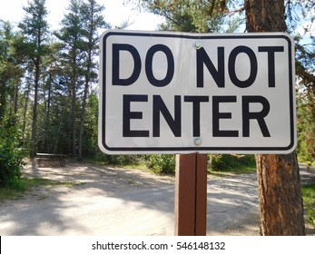Do Not Enter Sign at a Campground