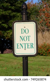 The do not enter sign on a close up view.