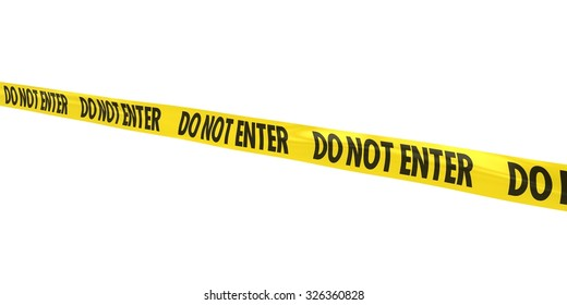 DO NOT ENTER Tape Line at Angle