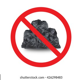 Do not litter sign. Red prohibition. Stop symbol