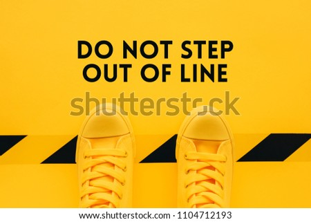 Do not step out