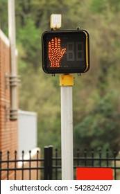 do not walk pedestrian crossing stop sign