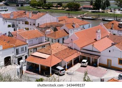 Alcácer do Sal / Portugal - June 2019: Alcácer do Sal, a town in the Alentejo region.