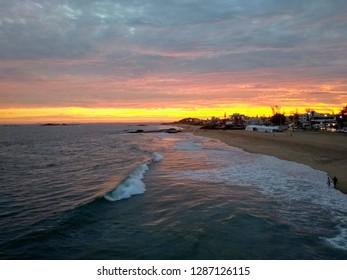 Pôr do Sol da praia Costa Azul, Rio das Ostras, RJ, Brasil