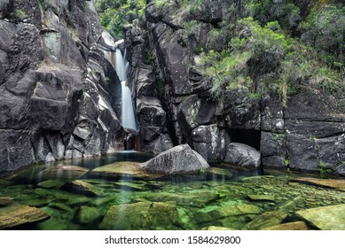 Poço do Teixo is a waterfall in Peneda Geres National Park in the north of Portugal