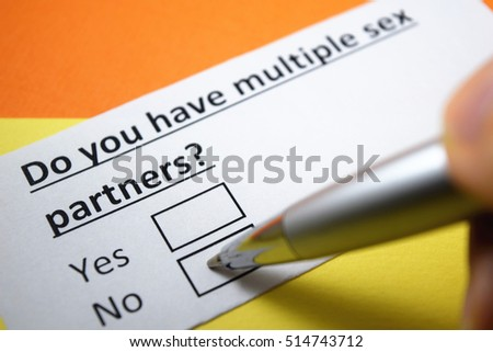 Think, Mutliple sex partners question interesting