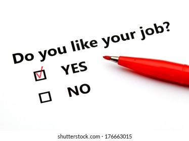 Do you like your job?