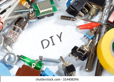 Diy electronics images stock photos vectors shutterstock do it yourself old retro radio electronic parts vintage background solutioingenieria Images