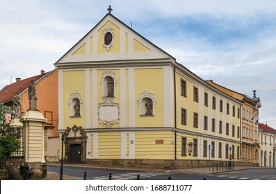 Dobo Istvan Gimnazium in Eger, Hungary. Building was built by jesuits in 1754
