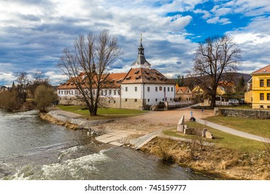 Dobrichovice Castle And Berounka River - Czech Republic, Europe