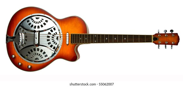 dobro slide guitar with clipping path