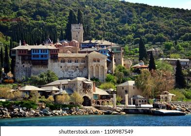 the Dochiariu monastery in Mount Athos