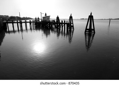 Dock in Black and White