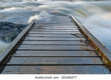 Dock in fast running water