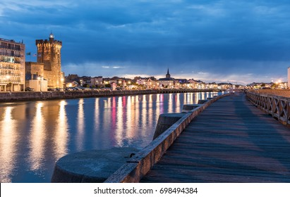The dock of la Chaume by night (Les Sables d'Olonne, France)