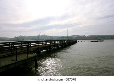 Dock Looking Toward Mayer Island Vallejo California