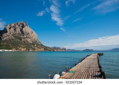 dock on Black Sea coast, New World, Crimea, Golitsyn trail, Feodosia, Crimea, Crimean Republic
