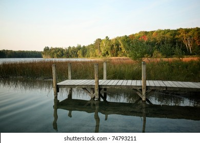 Dock Set in an Autumn Landscape