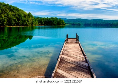 Dock, Summersville Lake, Nicholas County, West Virginia, USA