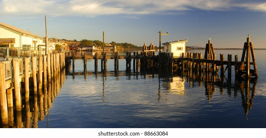 Dock at The Tides in Bodega Bay, California