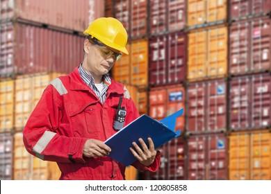 Docker checking consignment notes