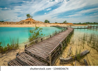 docks made from mangroves, bintan island, tanjung pinang, indonesia