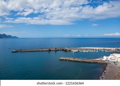 Docks on the north coast of the island of Gran Canaria, Agaete.