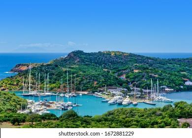 Nelson's Dockyard National Park Panorama, UNESCO World Heritage Site, Antigua and Barbuda