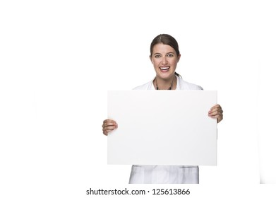 Doctor with board in hand