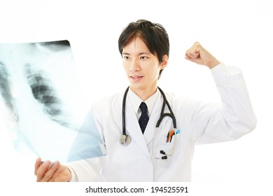 Doctor Checking X-ray