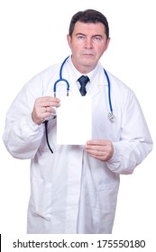 doctor  with empty card