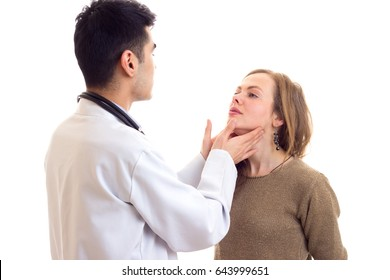 Doctor examing his patient