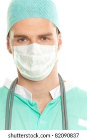 doctor in green costum