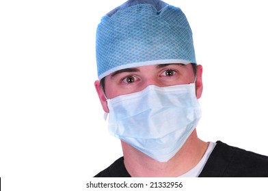 doctor in a hat and mask