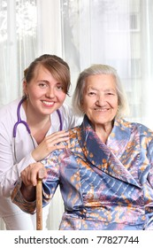 Doctor with her patient