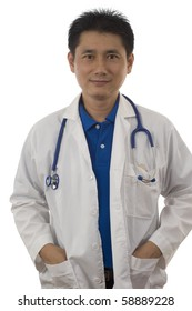 Doctor isolated with white background