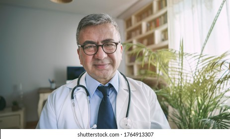 Doctor looking at the camera