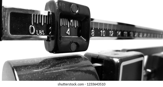 Doctor office scale closeup