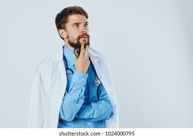 doctor on a light background