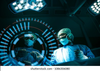 Doctor operation in operation room at hospital concept for insurance advertising.Team surgeon at work in operating room.hospital brochures.