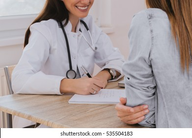 Doctor and patient discussing