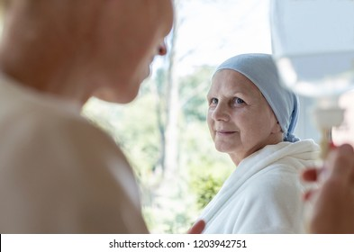 Doctor and senior patient with terminal illness in hospital