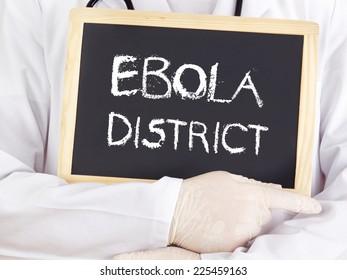 Doctor shows information: Ebola district
