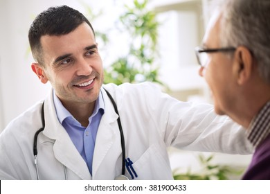 Doctor specialist and an Elderly Patient