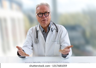 Doctor with a stethoscope on the computer laptop screen. Telemedicine or telehealth concept