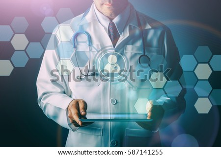 Doctor Stethoscope Tablet Computer On Black Stock Photo ... Doctor Stethoscope On The View