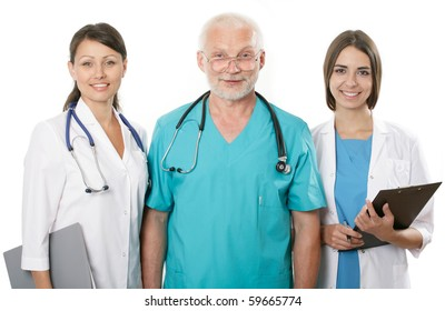 A doctor and team